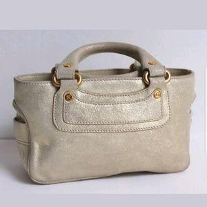 Celine Micro Light Gold Shimmer Boogie Bag